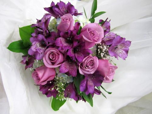 Lavender Roses & Alstromeria Bouquet