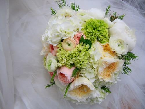 Garden Roses, Hydrangea, & Ranunculus Bouquet