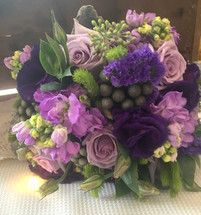 Popular Purple Wedding Bouquet