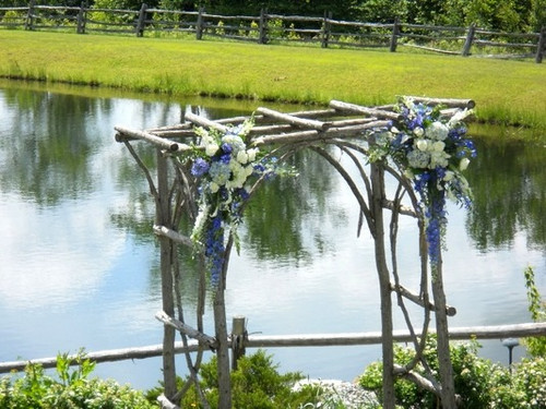Birchbark Trellis Decor