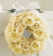 Champagne Door Wreath