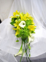 Yellow Lilies & White Calla Lilies