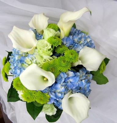 Calla Lilies & Hydrangeas