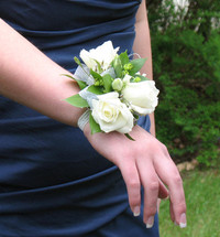 White Spray Corsage