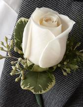 Creamy White Boutonniere