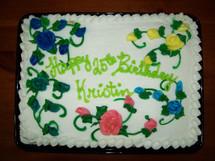 Chocolate or Vanilla Birthday Cake