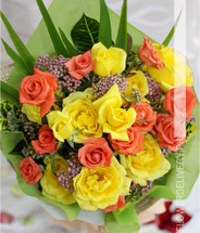 Rose Medley Garden Wrapped Flowers