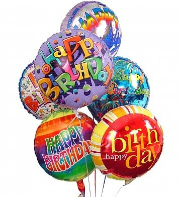 Today Delivery Burlington Happy Birthday Balloon