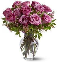 Lavender Purple Dozen Roses