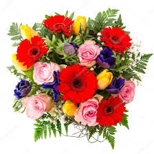 Gerbera Daisies, pink Roses and yellow gerberas arrange into this stunning bouquet.
