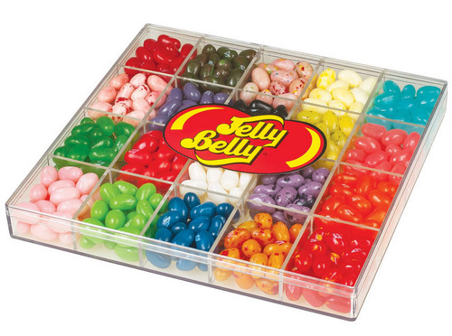 20 Flavors of Jelly Beans in a Clear Gift Box 16 ounces