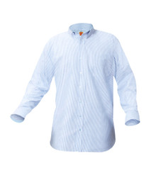 Blue Pinstripe Oxford Unisex Long Sleeve