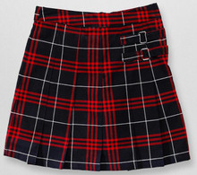 Navy/Red Plaid Two-Tab Scooter