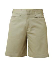 Girls Flat Front Shorts- Half