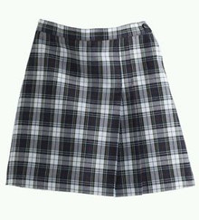 Skort 1 Pleat Plaid Reg