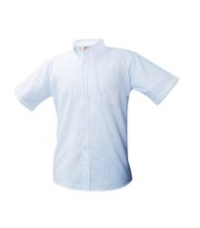 Blue Pin Stripe Oxford Male Short Sleeve