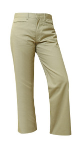 Girls Micro Stretch Flat Front Pants- Regular