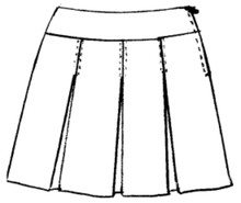 Skirt Lower Waist Plaid-Half