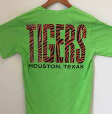 Flash Green with Tiger Print - TIGERS on Back