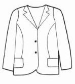 Womens Blazer 100% Poly- S&G