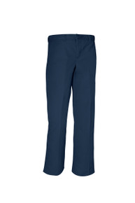 Boys Flat Front Pants Husky- Navy