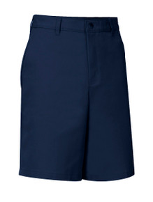 Boys Flat Front Shorts Men- Navy