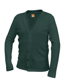 V-Neck Cardigan with Pocket- Green