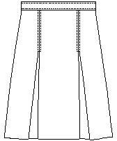Skirt 2Kick Pleat Reg- P57
