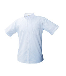 Girls Oxford Short Sleeve- Blue - Staff