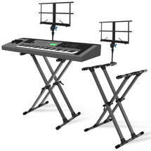 IA Stands ECT11 Double X Keyboard Stand + Sheet Music Mount (ECT11)