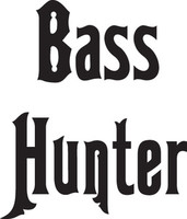 Bass Hunter Decal FSN1 #16  Boat/Truck Window Bumper Stickers