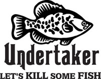 Fishing Undertaker Decal FSN1 #11 Crappie Boat/Truck Window Stickers