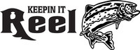 Fishing Reel Decal FSN1 #9 Trout Boat/Truck Window Stickers