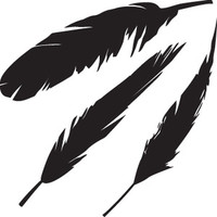 Feather Decals HNT4 #352 Vinyl Window Stickers
