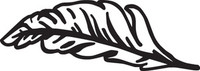 Feather Decals HNT4 #353 Vinyl Window Stickers