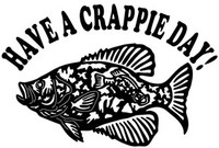 Crappie Decal Have A Crappie Day MD