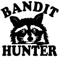 Coon Hunting (Bandit Hunter) Decals and Window Stickers