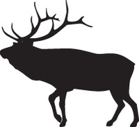 Elk Decal HTN1-46 Big Game Window Decals