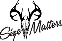 Size Matters Deer Hunting HNT1-179 Wildlife Vinyl Hunting Stickers