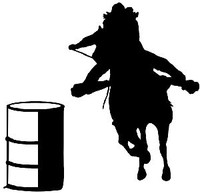 Barrel Racing Decal #35 MD Western Rodeo Decal