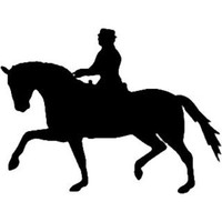 Equestrian Show Horse Decal ST2010S #13 Vinyl Trailer Stickers