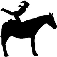 Equestrian Vaulting Decal ST2010S #001 Vinyl Window Stickers
