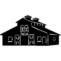 Barn Decal ST2010B #2 Farm Scenery Window Stickers