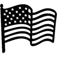 American Flag Decals ST2010F #002 Vinyl Window Truck Stickers