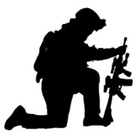 Military Soldier Decal STSBW #5 Army/Navy Vinyl Window Stickers