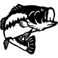 Largemouth Bass  Decal ST2010A Fishing Boat/Truck Window Sticker