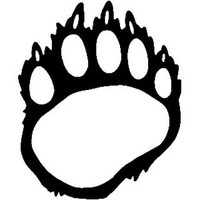 Bear Paw Tracks ST2010A Wildlife Vinyl Hunting Stickers