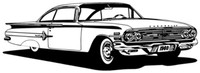 60 Chevy Impala Decal Classic Cars Window Stickers
