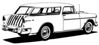 "55 Chevy Nomad Decal BCC Classic Cars 12"" Antique"