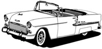"55 Chevy Conv. Decal BCC Classic Cars 12"" Antique"